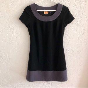 Boden Colorblock 100% Wool Dress in Black/Slate 2
